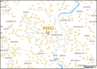 map of Mušići
