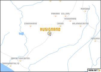 map of Musignano