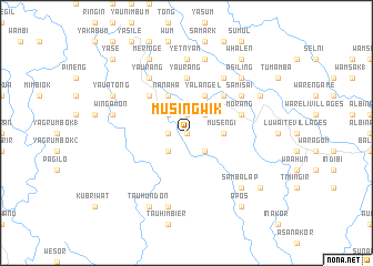 map of Musingwik