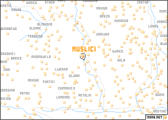 map of Muslići