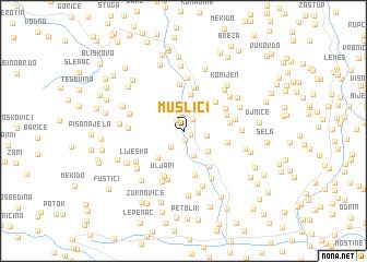 map of Muslići