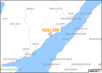 map of Muslone