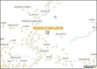 map of Mušovića Rijeka