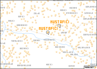 map of Mustafići