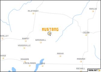 map of Mustang