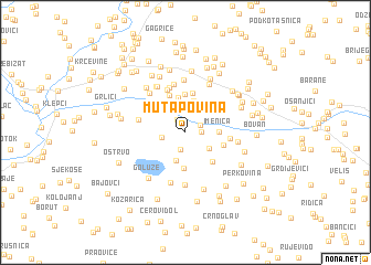 map of Mutapovina