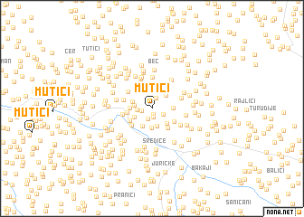 map of Mutići