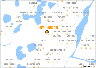 map of Muyumbana