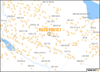 map of Muzerovići
