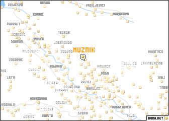 map of Mužnik