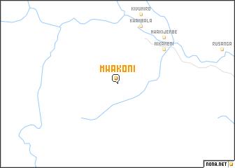 map of Mwakoni