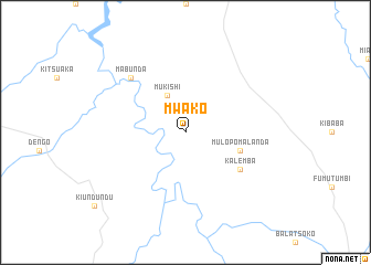map of Mwako