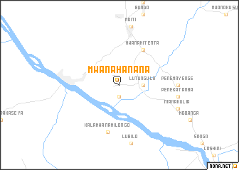 map of Mwana-Hanana