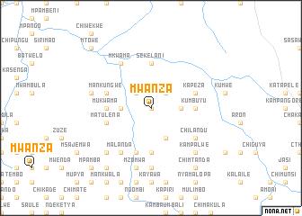 Mwanza Zambia map nonanet