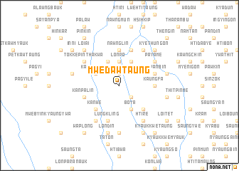 map of Mwedaw Taung