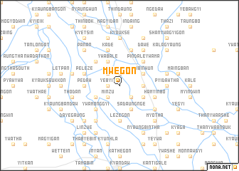 map of Mwegon
