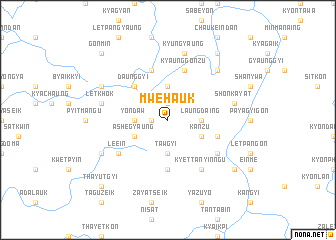 map of Mwehauk