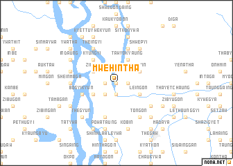 map of Mwehintha