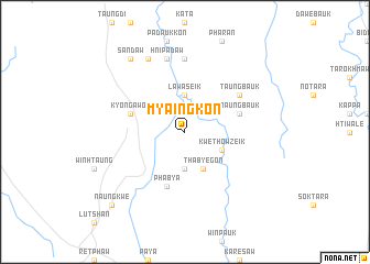 map of Myaingkon