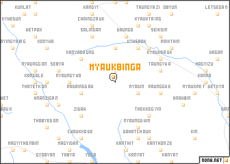 map of Myaukbinga