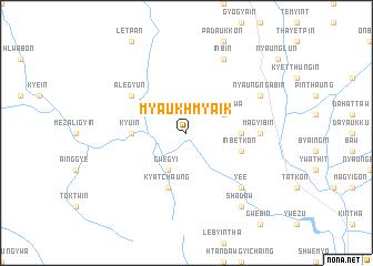 map of Myaukhmyaik
