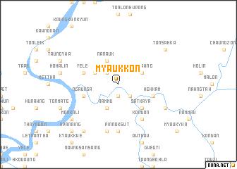 map of Myaukkon
