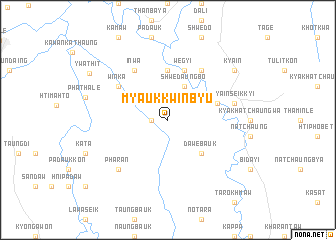 map of Myaukkwinbyu