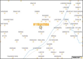 map of Myauknaw