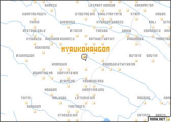 map of Myaukohawgon