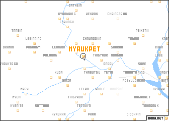 map of Myaukpet