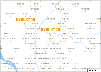 map of Myauktaw