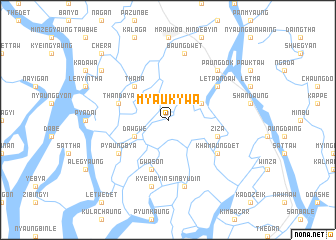 map of Myaukywa