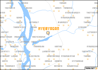map of Myebyagan