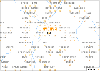 map of Myekya