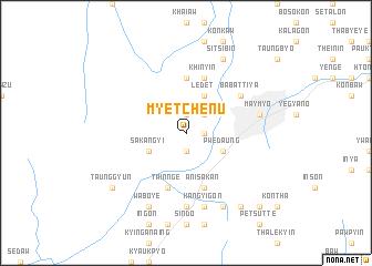 map of Myetchenu