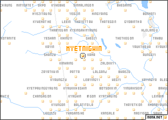 map of Myetnigwin