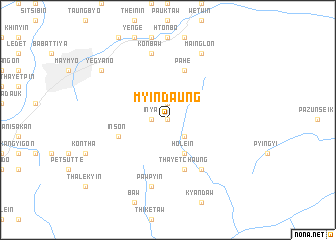 map of Myindaung