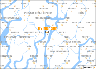 map of Myingagôn
