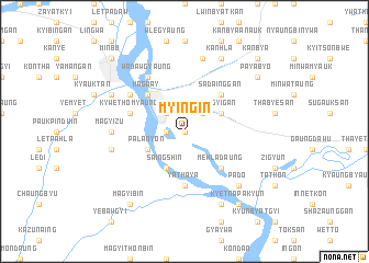 map of Myingin