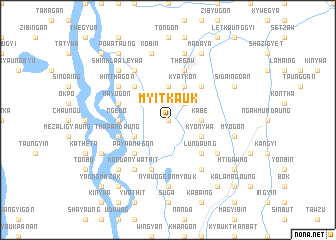 map of Myitkauk