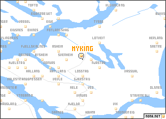 map of Myking
