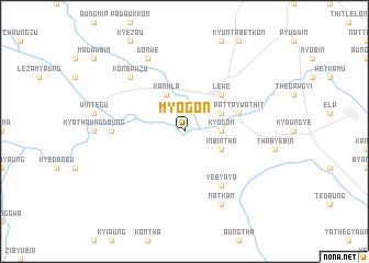 map of Myogon