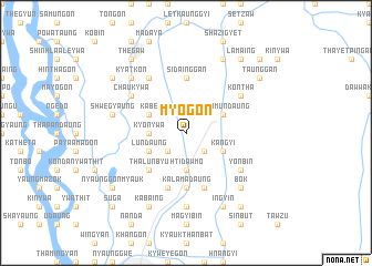 map of Myogon