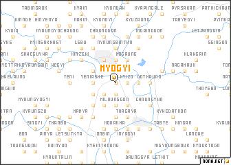 map of Myogyi