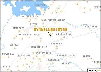 map of Myrdell Estates