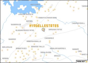 map of Myrdell Estates