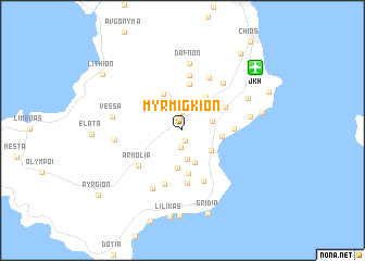 map of Myrmígkion