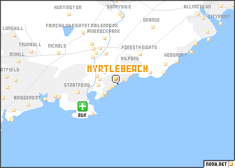 map of Myrtle Beach