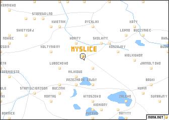 map of Myślice