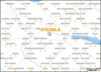 map of Myszadła